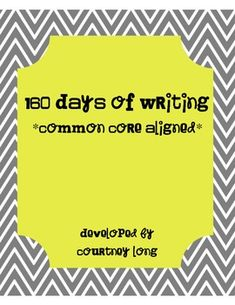 This 86 page packet is a 160 day Common Core aligned Writing Curriculum that I will be using in my 4th grade classroom but it also covers MANY Comm...#Repin By:Pinterest++ for iPad#