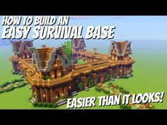 How to build a Base in Minecraft with Everything: Easy Minecraft Survival Base Avomance 2020 Minecraft Castle Map, Minecraft Fort, Big Minecraft Houses, Minecraft Building Blueprints, Minecraft Houses Survival, Minecraft Plans, Minecraft House Designs, Minecraft Construction, Minecraft Tutorial