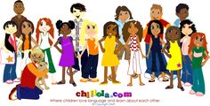 http://www.chillola.com  A free foreign language learning site for children. Simple games, activities, and resources for learning vocabulary in French, Spanish, German, Italian and more.