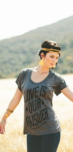 Buy this Love Is Our Answer Flowy Raglan at http://www.sevenly.org/product/51805150edc946671300000e?cid=ShrPinterestProductDetail