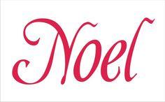 Christmas Stencil NOEL 2 14x 6.5 Feedsack by SuperiorStencils, $11.50
