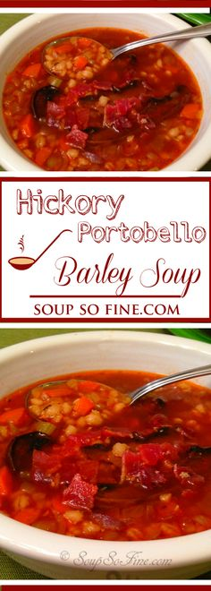 A barley soup recipe brimming with mushrooms and flavorful aromatics in a savory beef stock. Best Soup Recipes, Vegetable Soup Recipes, Chili Recipes, Fall Recipes, Real Food Recipes, Vegetarian Recipes, Healthy Recipes, Portobello Mushroom Recipes, Barley Soup
