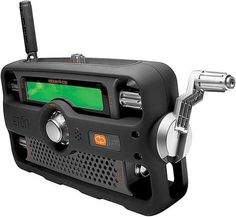 2-Way Hand-Crank Radio Also Works As Walkie Talkie
