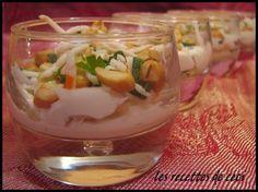 Petite verrine de crabe au fromage frais