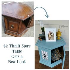 my-repurposed-life-thrift-store-hexagon-table-makeover