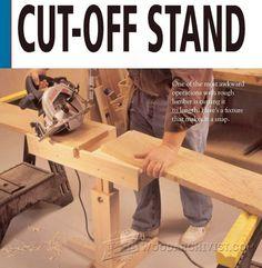 Circular Saw Cut Off Stand Plan - Circular Saw Tips, Jigs and Fixtures   WoodArchivist.com