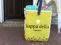 Kappa delta cornell Kate spade painted cooler