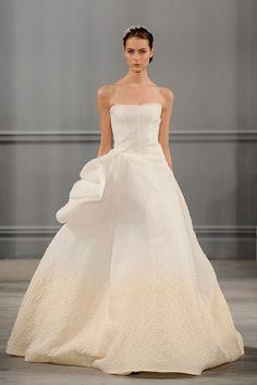 Monique Lhuillier SS14 bridal collection.  Image: Getty