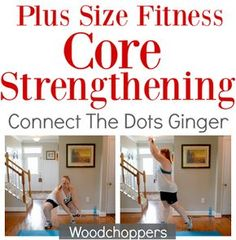Plus size fitness core strengthening exercises! NO CRUNCHES NEEDED to rock this at home workout. Plus Size Fitness: Core Strengthening Workout. No crunches needed to strengthen and tone your core and abs! Beginner Workout At Home, At Home Workout Plan, Workout For Beginners, At Home Workouts, Workout Plans, Fitness Workouts, Fitness Diet, Beginner Pilates, Beginner Workouts