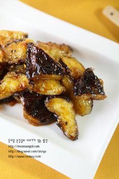 Banchan Recipe, Cookbook Recipes, Cooking Recipes, Korean Kitchen, Vegetarian Recipes, Healthy Recipes, Eggplant Recipes, Korean Food, Easy Cooking