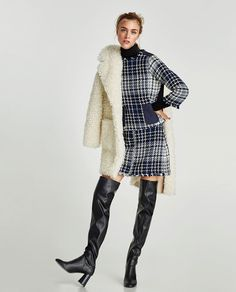 ZARA - WOMAN - CONTRASTING TWEED SKIRT
