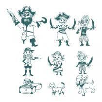 Pirate SVG Cuttable Designs