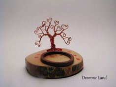 The Tree Of Love  Copper Wire Tree Sculpture by DrommeLund on Etsy, kr320.00