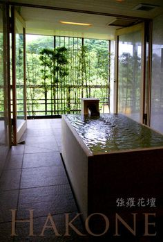 Hot spring at Hakone Gora Kadan, Japan