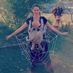 Pin for Later: 42 Adorable Halloween Costumes For Baby-Wearing Parents Spider