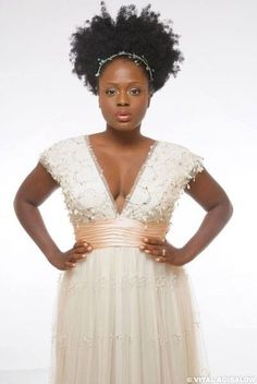 Big, Bold, Beautiful hair on Black Bride. Perfection