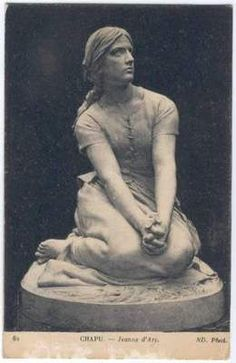 Joan of Arc (Jeanne d'Arc). Old & vintage postcard