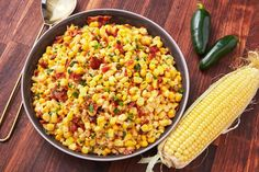Your Potluck Needs This Bacon Jalapeño Corn Salad Corn Salad Recipes, Salad Recipes Video, Corn Salads, Coleslaw Recipes, Vegetable Side Dishes, Vegetable Recipes, Stuffed Jalapenos With Bacon, Stuffed Peppers, Jalapeno Corn