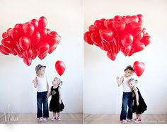 fun many balloon photoshoot
