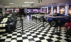 Cars inside the Carroll Shelby Museum
