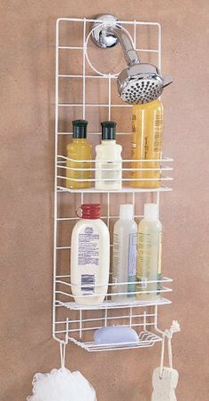 Better Housewareu0027s Shower Caddy By Better Houseware. $14.99. Two Full Height  Shelves. 2 Hooks And Soap Shelf. Includes Non Slip Shower Head Clip And  Suction ...