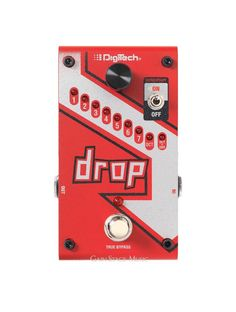 Digitech Drop Polyphonic Drop Tune Pitch-Shifter Guitar Pedal.   Very cool pitch shifter in a single pedal format. Semi tones or full octave. Has momentary option so only drops signal as you hold switch down.    #DigiTech #GuitarEffect #Effects #Pitch