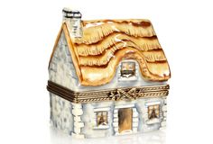 A storybook country cottage may seem like an extravagant gift. But this hand-painted Limoges porcelain box makes it one that's within your power to give.