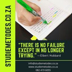'n Slegte punt in 'n toets beteken nie jy is 'n mislukking nie! 🙌 ⭐️ ☀️ Staan op en probeer weer. YOU GOT THIS! 💥 🌈 🔥 Leer hoe om reg te leer volgens jou leerstyl deur een van ons studiemetodes werkswinkels by te woon. 👩🏫 Aanlyn 💻📲 Een-tot-een (individueel) 👩🎓 Groep 👨👨👦👦 Kontak ons by info@studiemetodes.co.za, besoek ons website by www.studiemetodes.co.za of bel/WhatsApp ons by 082 419 6055 Hoe, You Got This, Website, Its Ok