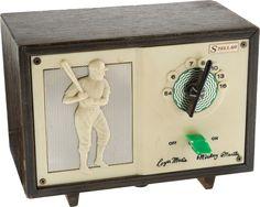 Baseball Collectibles:Others, Circa 1962 Roger Maris & Mickey Mantle Tube Radio. Radios, Music Machine, Antique Radio, Mickey Mantle, Transistor Radio, Record Players, Celebration Quotes, Ham Radio, Old Tv