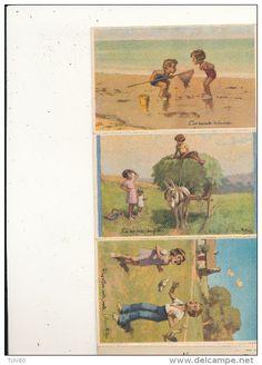REDON GEORGES carnet National des Colonies de Vacances  10 cartes