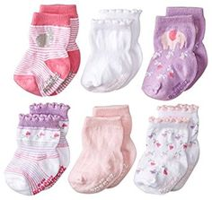 Amazon.com: Robeez Baby-Girls Newborn 6 Pack Baby's Favorite Socks, Pastel Pink, 0-6 Months: Clothing. These socks are one of the few that will stay on baby's feet