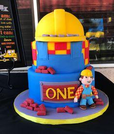 Bob the Builder 1st birthday cake