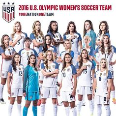 Women's soccer team representing Team USA in the Rio Olympics. They are mostly made up of MLS players. Girls Soccer Team, Usa Soccer Team, Us Soccer, Soccer Tips, Play Soccer, Team Usa, Soccer Players, Soccer Stuff, Soccer Cleats