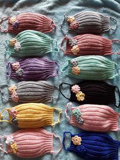 Crochet Mask, Crochet Faces, Crochet Girls, Knit Crochet, Quick Crochet Patterns, Crochet Stitches, Knitting Patterns, Crochet Flower Tutorial, Crochet Flowers