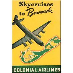 Pan Am American Airways Vintage Travel Bermuda Poster