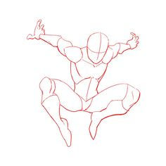 3 Ways to Draw Spiderman- Anaïs Ackerman Spiderman Poses, Spiderman Drawing, Spiderman Art, How To Draw Spiderman, Spiderman Sketches, Anime Poses Reference, Figure Drawing Reference, Hand Reference, Drawing Sketches