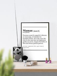 Affiche Définiton ' Maman ' - texte - à télécharger pour la fête des mères : Affiches, illustrations, posters par affiche-rgb4you