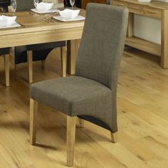 Details About Nara Solid Oak Furniture Set Of Eight Upholstered Dining  Chairs