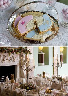 Marie Antoinette theme wedding ~ Fan Biscuits