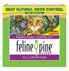 Feline Pine Clumping Pine Cat Litter