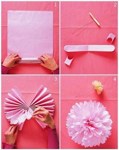 What a fun easy way to make a beatiful flower you could make a bunch of these and hang them for an outside party