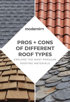 Homeowners in need of a roof replacement have multiple roofing materials available to them today with varying lifespans. Aside from their longevity, the different roofing materials each have their own Types Of Roof Shingles, Asphalt Roof Shingles, Roofing Shingles, Types Of Roofing Materials, Roofing Options, Modern Roof Design, Roof Sealant, Architectural Shingles Roof, Roof Flashing