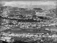 Overlooking Kilbirnie, Wellington, showing the speedway stadium