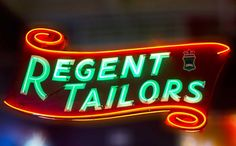 Regent Tailors old neon sign, Vancouver.