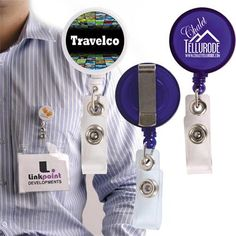 Retractable Name Badge Holder With Metal Clip Min 250 - Conference & Events - PRINTED LANYARDS is one of our best categories. There are many types of Printed Lanyards's in the Printed Lanyards category.