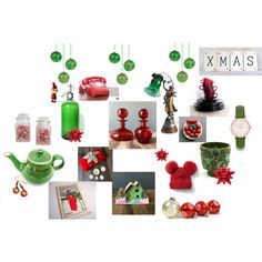 Seasonal by happyfortunevintage on Polyvore featuring art, vintage, Christmas, gift, list and holiday