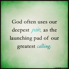 He makes all things work together for our good :)
