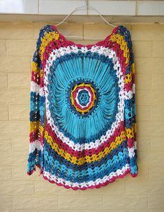 long sleeve crochet blouse