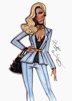 Hayden Williams Fashion Illustrations: 'Strong Suit' by Hayden Williams Illustration Blume, Illustration Mode, Fashion Illustration Sketches, Fashion Sketches, Hayden Williams, Moda Fashion, Fashion Art, Girl Fashion, Classy Fashion