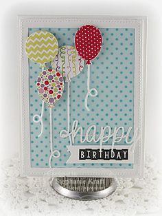 Happy Birthday Card by Stephanie Kraft #Cardmaking, #Birthday, #CuttingPlates